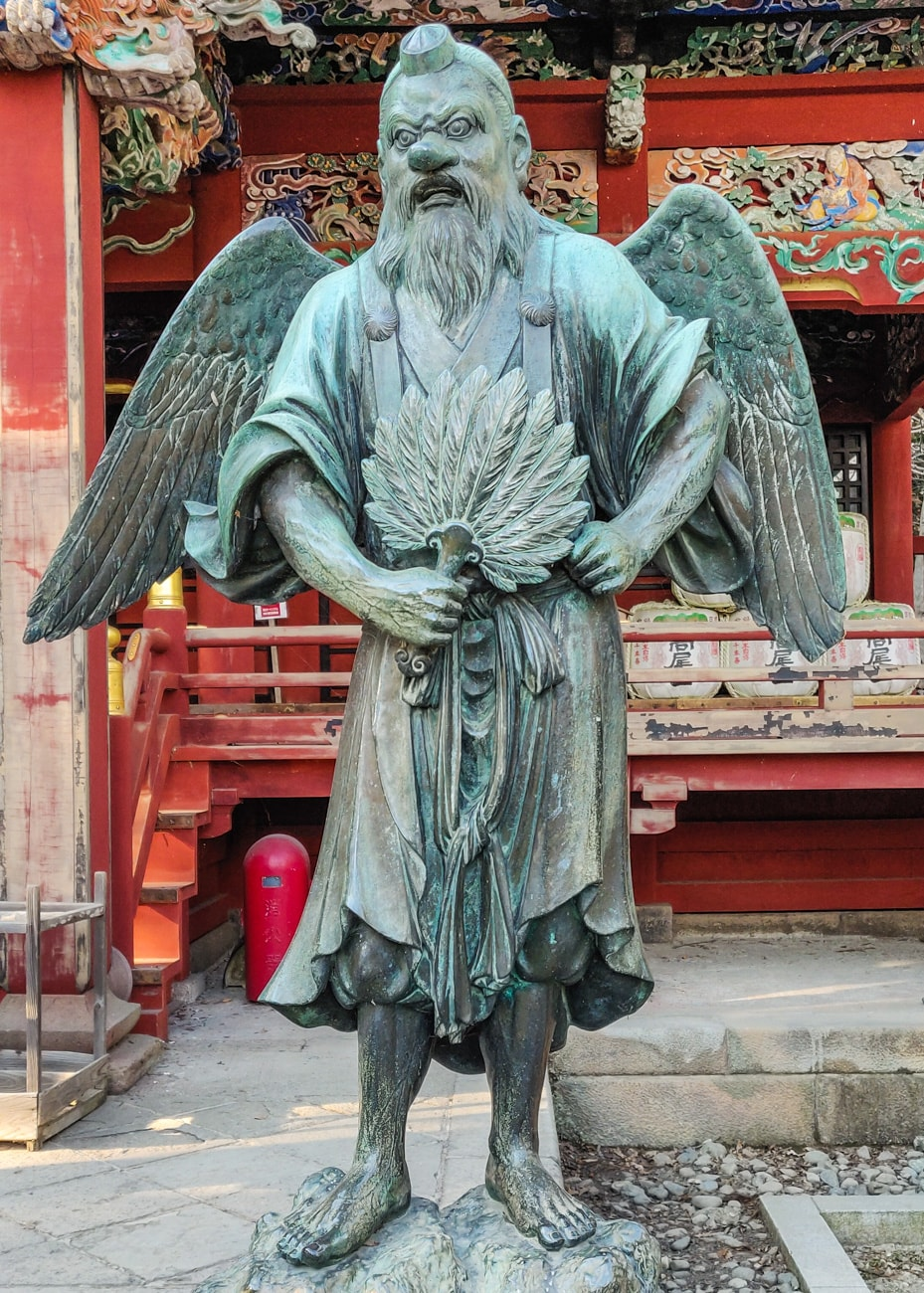 Statue of Tengu: Izuna Gongen-do Hall, Takao-san Yakuo-in, Mt. Takao, Tokyo