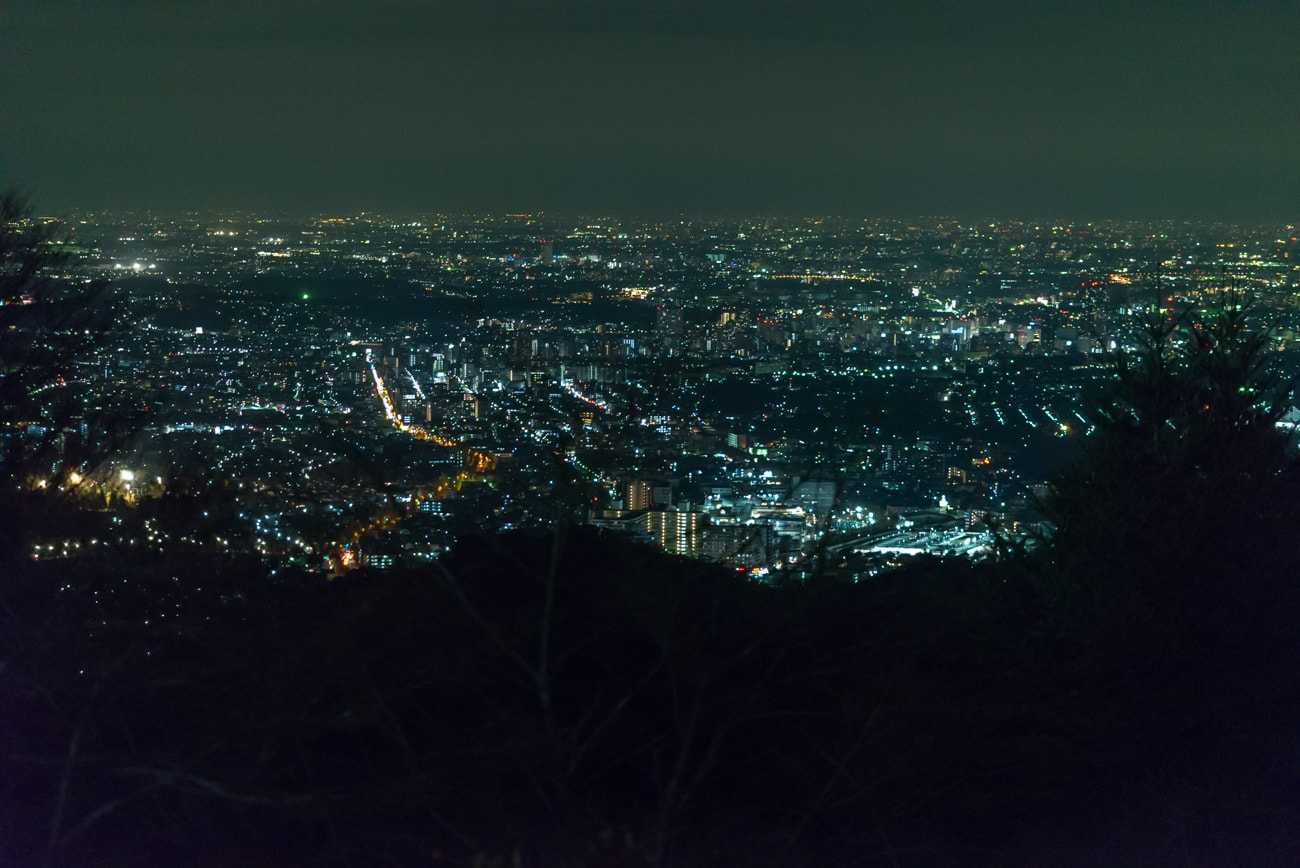 Tokyo at Night from Mt. Takao