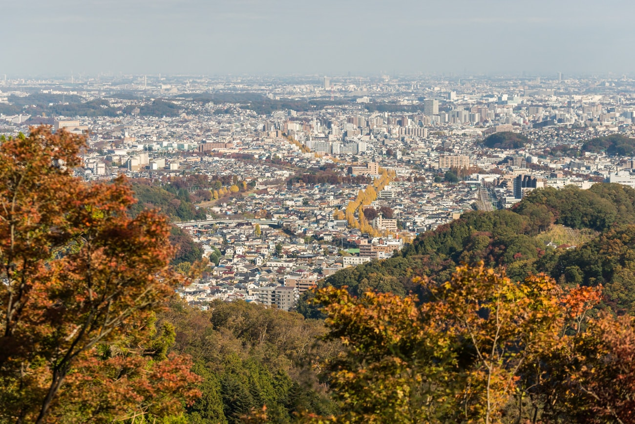 Tokyo from Viewpoint at Mount Takao.