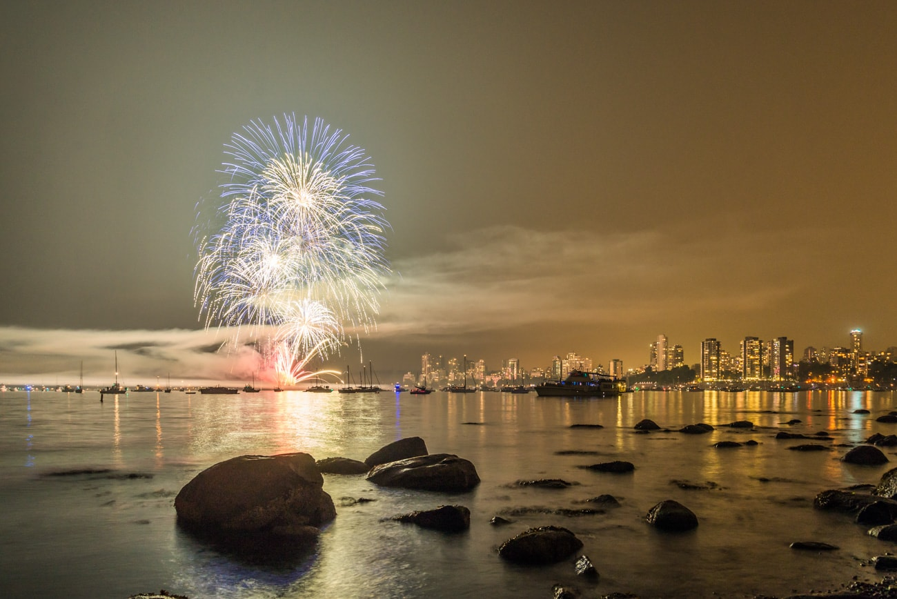 Team United Kingdom Fireworks & Vancouver Downtown during Honda Celebration of Light in 2017.
