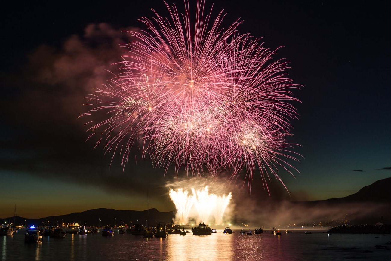 Team Japan Fireworks Performance During Honda Celebration of Light in Vancouver, Canada in 2017