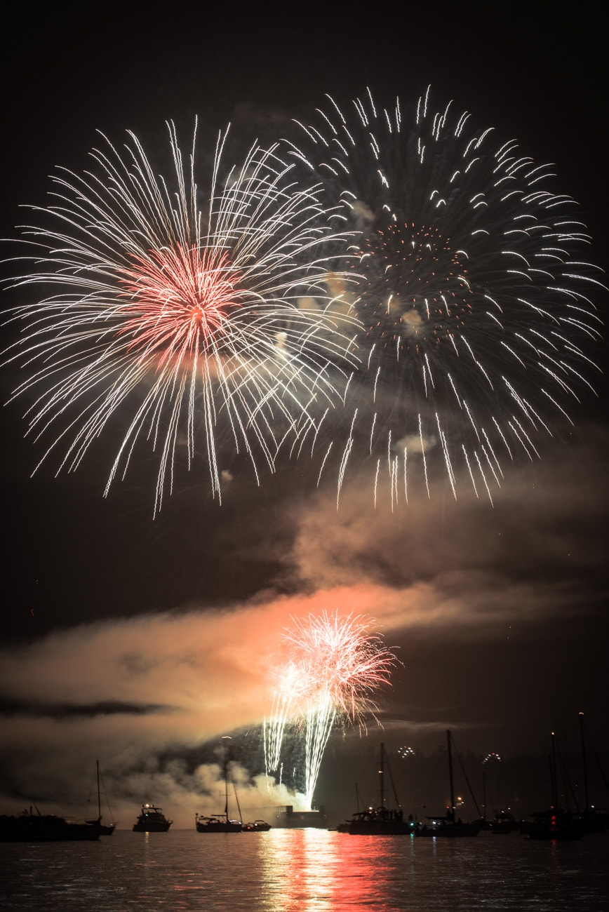 Team UK Fireworks in 2017 Honda Celebration of Light in Vancouver, BC, Canada.