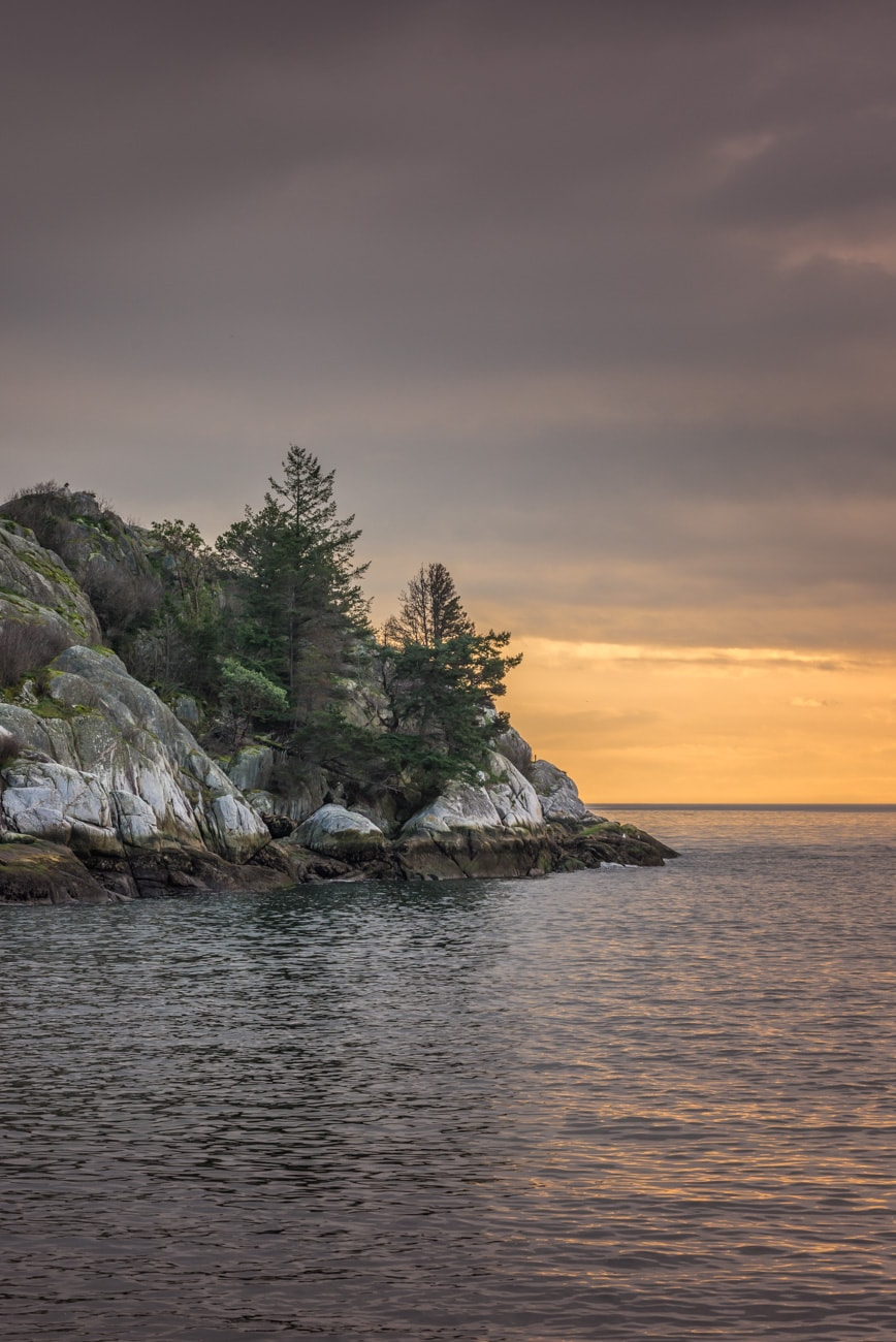 Ocean Landscape at Sunset in Whytecliff Park West Vancouver.