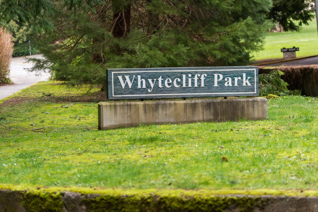 Whytecliff Park in West Vancouver Sign