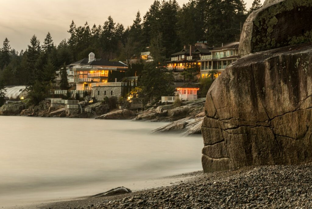 Sandy Cove Beach in West Vancouver, BC, Canada