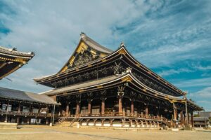 Higashi Honganji Buddhist Temple in Kyoto, Founder's Hall (Goei-do)