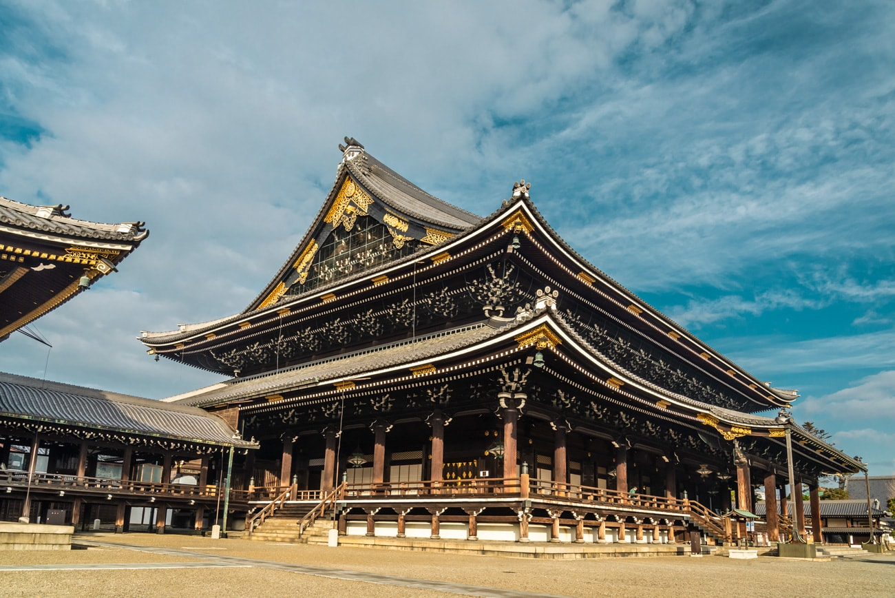 Higashi Honganji Buddhist Temple in Kyoto, Founder's Hall (Goei-do)
