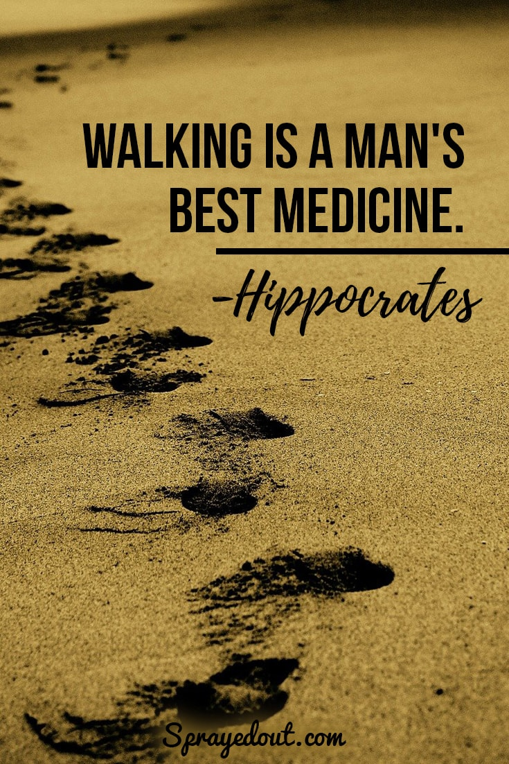 Hippocrates quote about walking.