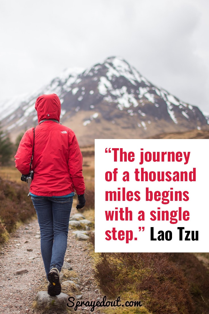 Lao Tzu quote about life journey.