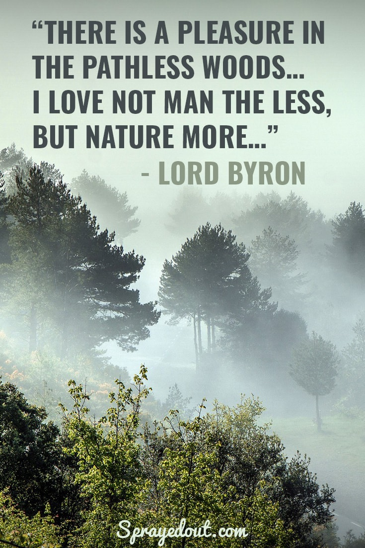 Lord Byron quote about love to nature.