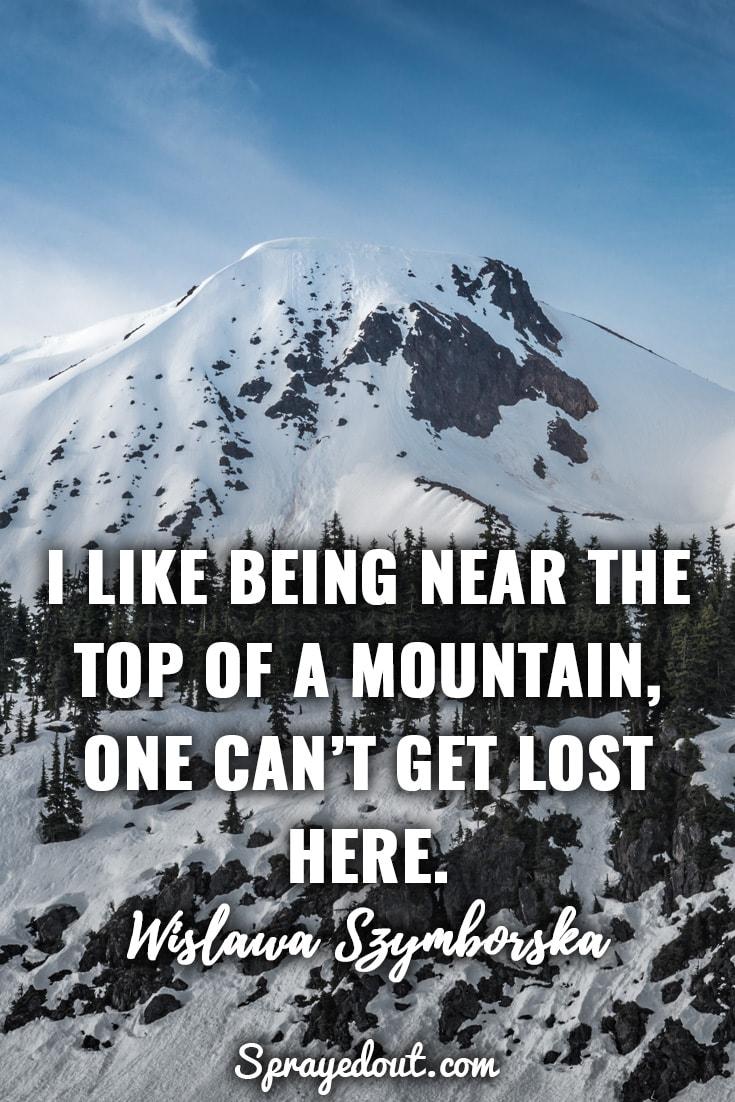 Wislawa Szymborska mountain quote.